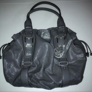 Michael Kors Semi Gloss Leather Shopper Handbag